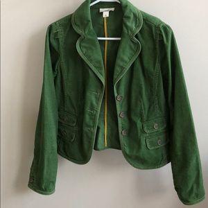 Green corduroy blazer